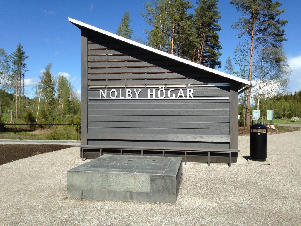 Nolby Högar Arkiologstig med fornlämmningar Foto: Viola Bogstag