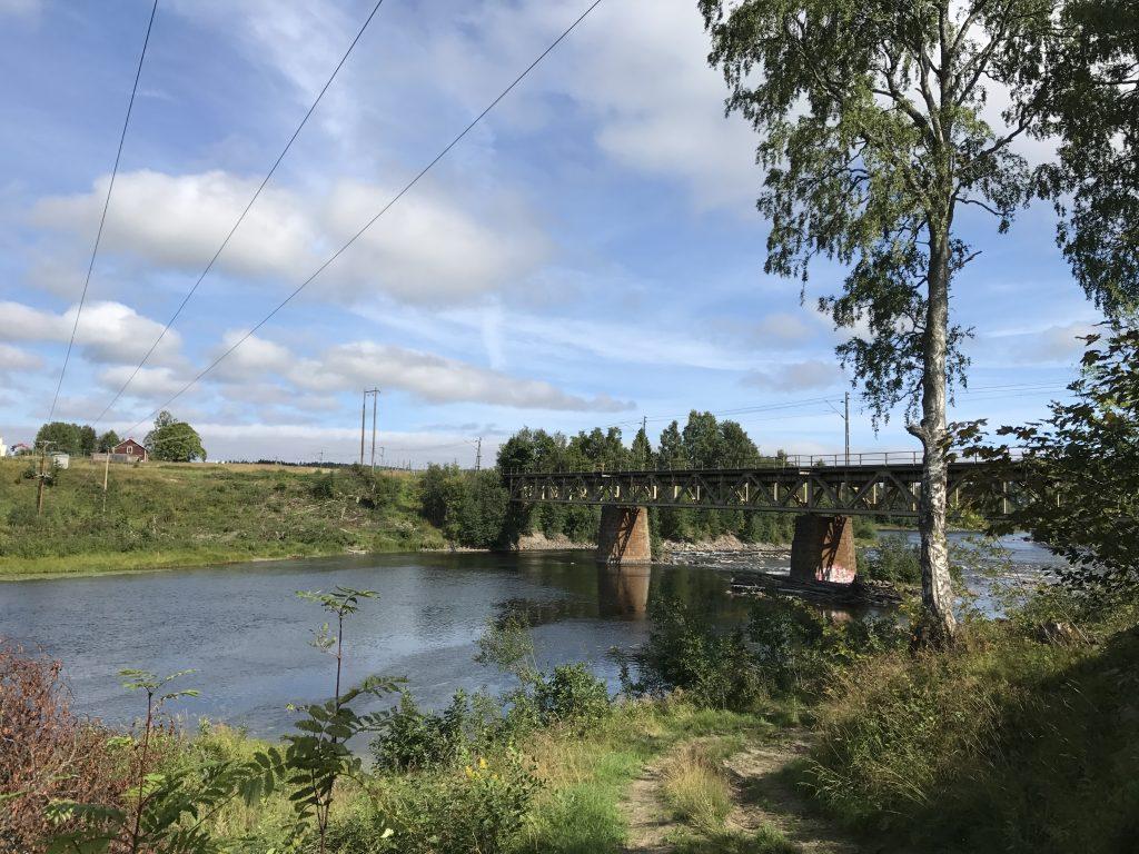 Ljungan järnvägsbron i Njurundabommen. Foto: Viola Bogstag